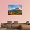 Landscape Nature Mountain in Alps with rainbow Multi panel canvas wall art