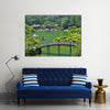 A view from a hill in Ritsurin Garden in Takamatsu city, Kagawa Prefecture, Japan multi panel canvas wall art