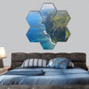 the famous coastline of the big island hexagonal canvas wall art