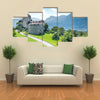The Medieval Castle In The Vaduz, Liechtenstein, Multi Panel Canvas Wall Art