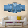 Globalization conceptual, network communication concept Multi panel canvas wall art