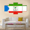 Equatorial Guinean national official flag Multi Panel Canvas Wall art