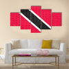 Trinidadian and Tobagonian national official flag Multi panel canvas wall art
