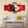 Swazi national official flag Multi Panel Canvas Wall Art