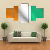 Flag of Ivory Coast waving in the wind with detailed fabric texture Multi panel canvas wall art