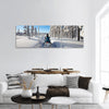 Sunny winter landscape panoramic canvas wall art