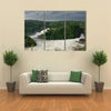 High angle view of Murchison Falls in Nilo River Uganda Multi panel canvas wall art
