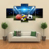 All sports balls in the stadium, sport Multi panel canvas wall art