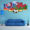 Football Slovakia and Welsh Multi panel canvas wall art