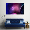 Scenery Of Saturn With Its Rings Multi Panel Canvas Wall Art