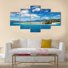 Coastal view, Pacific coast of New Zealand Multi panel canvas wall art