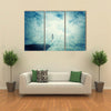 Illusion Of Astral Travel of Young Boy In A Mysterious Place Into The Clouds Multi Panel Canvas Wall Art