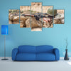 Soviet paratrooper in Afghanistan during the Soviet Afghan War Multi panel canvas wall art