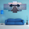 The Ocean in the Maldives, A Vacation in luxury hotel Multi Panel Canvas Wall Art