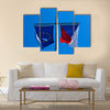 Flags Of The European Union And The Czech Republic Multi Panel Canvas Wall Art