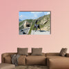 People visiting the Grossglocker mountain area multi panel canvas wall art