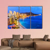 Honolulu, Hawaii. Skyline of Honolulu, Diamond Head volcano wall art
