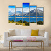 mountains in norway Multi Panel Canvas Wall Art