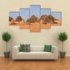 The pyramids of Meroe in the Sahara of Sudan Multi Panel Canvas Wall Art