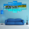 Many Ocean Bungalows Built Over Water, Maldives Multi Panel Canvas Wall Art
