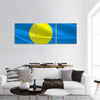 Flag of Palau panoramic canvas wall art