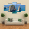 The Rouche Sea In Front Of The Capital City Of The Beirut, Multi Panel Canvas Wall Art