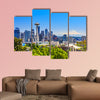 Seattle downtown skyline and Mt. Rainier, Washington Multi panel canvas wall art