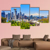 Seattle downtown skyline and Mt. Rainier, Washington. Multi panel canvas wall art