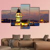 Maiden's Tower in Istanbul, Turkey multi panel canvas wall art
