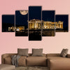 Parthenon of Athens at Night, Greece multi panel canvas wall art