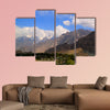View to Rakaposhi peak, Karakorum mountains Pakistan Multi panel canvas wall art