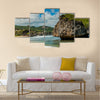The Standing Rock in Barbados Multi panel canvas wall art