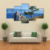 Scene Of Trees Of Desire On Cape Burhan On Lake Baikal, Russia,Multi Panel Canvas Wall Ar