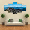 The Drei Schwesterns Mountains Looking Over Switzerland, Liechtenstein and Austria, Multi Panel Canvas Wall Art