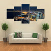 The Aerial Night Shot Of The Beirut In Lebanon, Multi Panel Canvas Wall Art