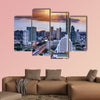Bangkok view on storm and raining background multi panel canvas wall art