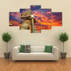 Demon Guardian in Grand Palace Bangkok Multi panel canvas wall art