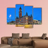 City Hall of Helsingborg in evening, Sweden multi panel canvas wall art