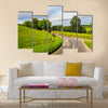 HDR English country panorama around Salisbury in England, UK multi panel canvas wall art