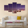 Belgrade bridges under the moonlight Multi panel canvas wall art