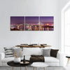 Belgrade bridges under the moonlight Panoramic canvas Wall Art
