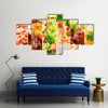 Collage of various food products Multi panel canvas wall art