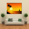 Beautiful Sunset Multi Panel Canvas Wall Art