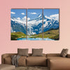 Schreckhorn peak over Bachsee in Alps, Switzerland multi panel canvas wall art