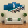 UAE Burj Al Arab is a luxury 5 star hotel built on an artificial island in front of Jumeirah beach Multi panel canvas wall art