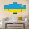 Rwanda Flag Vector Format Multi panel canvas wall art