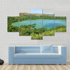 The volcano lake of Dziani on Mayotte island France Multi panel canvas wall art