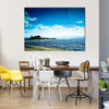 Super Moon With Lake On A Bright Blue Sky Multi Panel Canvas Wall Art
