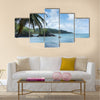 Beach Beauty in Nature Blue Cloud Sky Coast Multi panel canvas wall art