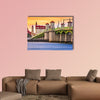 St. Augustine, Florida, USA city skyline and Bridge of Lions wall art
